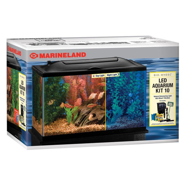 Ml 50234 bio wheel led aquarium kit 10 blue sky pet supply for Fish antibiotics walmart