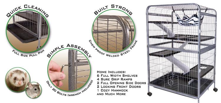 Wa 01924 Living Room Series Ferret Cage 32 Blue Sky Pet Supply